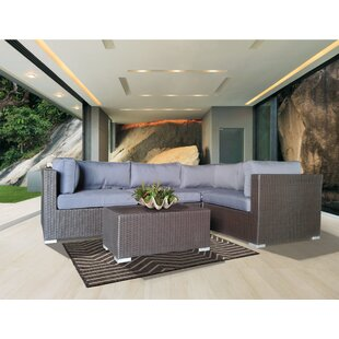 Hopson 5 Piece Sectional Set with Cushions
