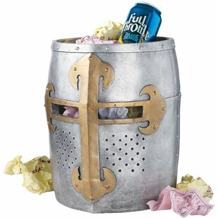 Design Toscano Crusader's Great Helm Gothic 4.67 Gallon Waste Basket