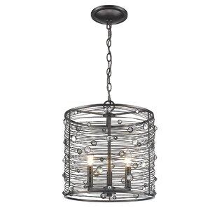 Trent Austin Design Kendra 3-Light Drum Chandelier