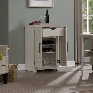 Kristen Bar Cabinet with Wine Storage by Charlton Home