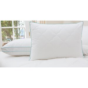 2 Pack Scallop Cloud Quilted Gusset Down Alternative Pillows (Set of 2) by Alwyn Home