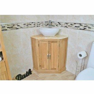 Delosreyes Solid Oak 550mm Free-Standing Vanity Unit By Belfry Bathroom