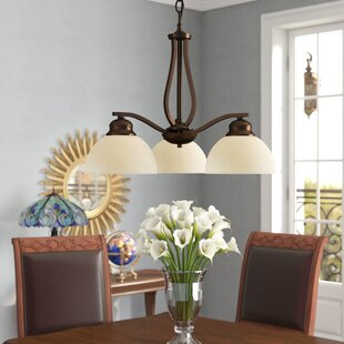 Brickyard 3-Light Shaded Chandelier by Three Posts