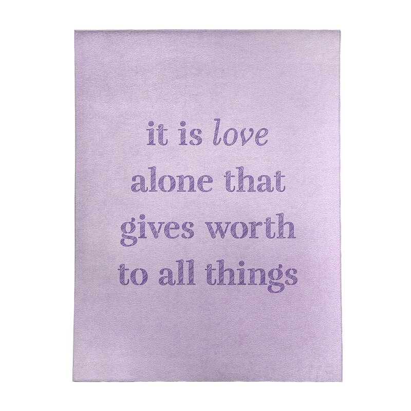 East Urban Home Handwritten Love Inspirational Quote Poly Chenille Rug Wayfair