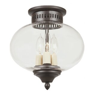 JVI Designs Classic Onions 3-Light Medium Flush Mount
