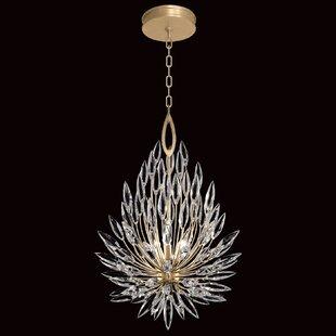 Fine Art Lamps Lily Buds 3-Light Crystal Chandelier