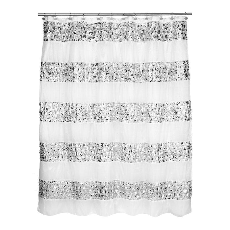 Rivet Striped Shower Curtain