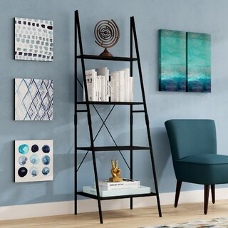 "Taniya 72"" Ladder Bookcase by Ebern Designs SKU:CC436486 Check Price"