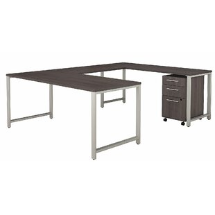 Bush Business Furniture 400 Series U-Shape Desk Office Suite