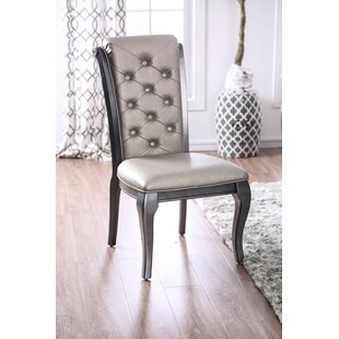 Centerton Button Tufted Upholstered Dining Chair (Set of 2)