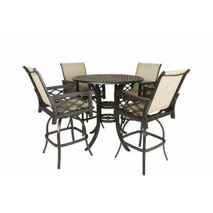 Fridley 5 Piece Sunbrella Bar Height Dining Set