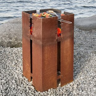 Steel Fire Pit By Symple Stuff