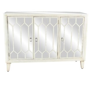 Cecilvale Modern Wood 3 Door Accent Cabinet by Ophelia & Co.