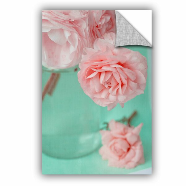 Artwall Judy Stalus Pink Flowerson Turquoise Removable Wall Decal Wayfair
