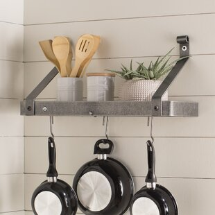 Usa Handcrafted Gourmet Wall Mounted Pot Rack By Enclume