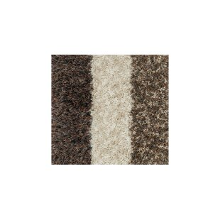 Hackel Shag Hand-Tufted Brown/White Area Rug By Red Barrel Studio