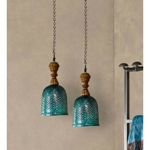 Bungalow Rose Cully 1-Light Bell Pendant