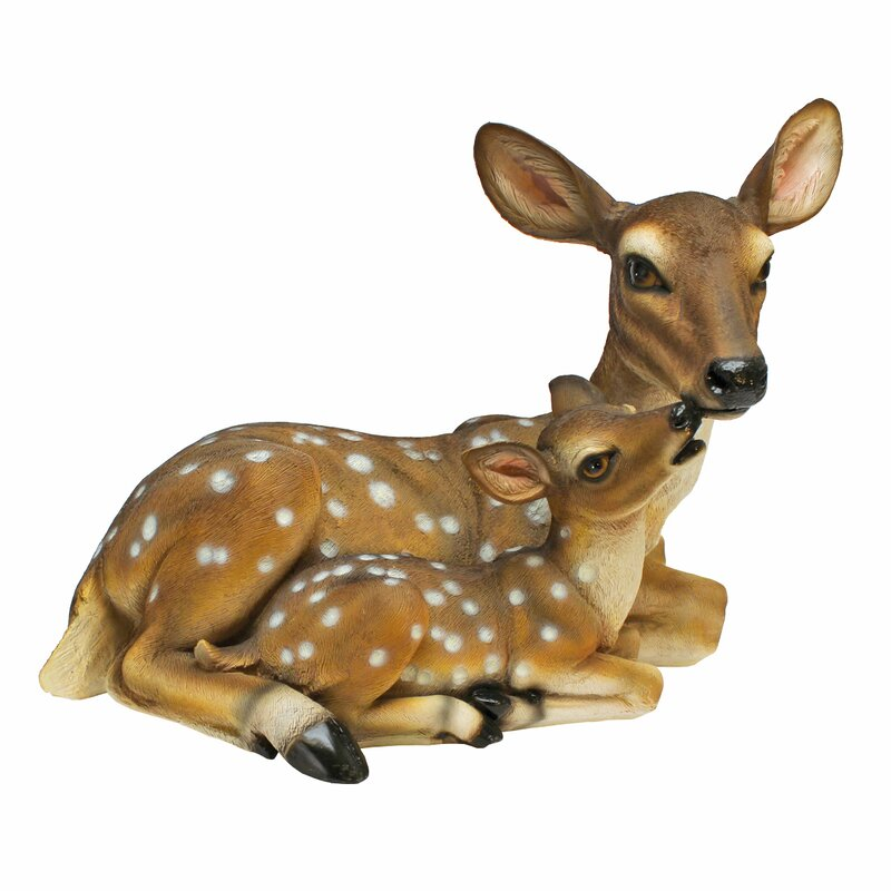 design toscano mothers love doe and fawn statue reviews wayfair