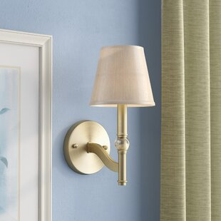 Best Raposo 1-Light Candle Wall Light By Charlton Home