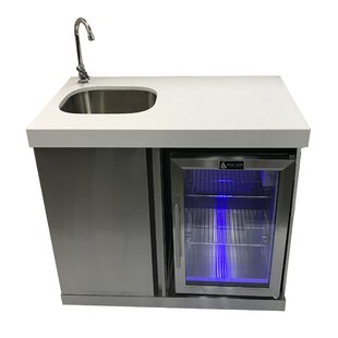 On Sale Outdoor Bar Center with Sink and Fridge Mont Alpi