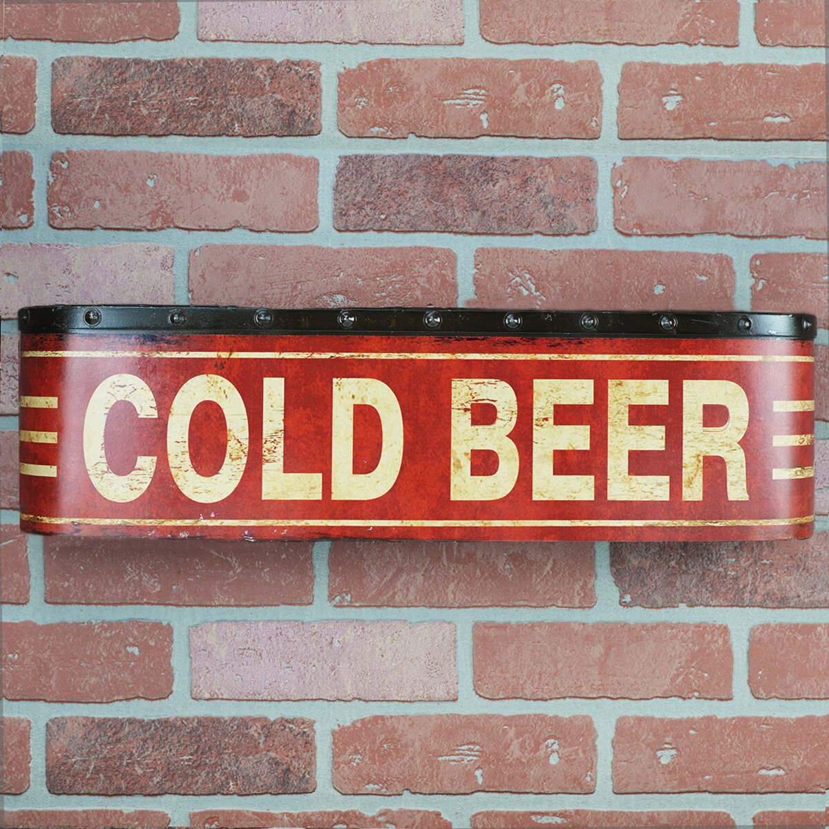 Winston Porter Waller Metal Cold Beer 3d Sign Tin Home Bar Pub Wall Art Man Cave Decor Wayfair