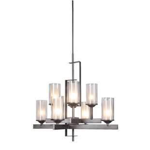 Compare prices Fludd 8-Light Shaded Chandelier By Brayden Studio