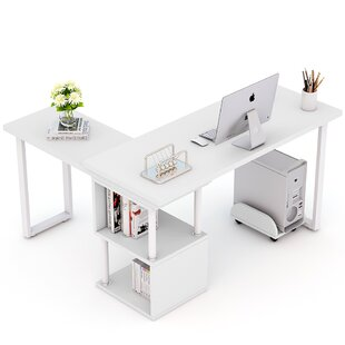 Lambdin 360° Free-Rotating L-Shape Credenza desk