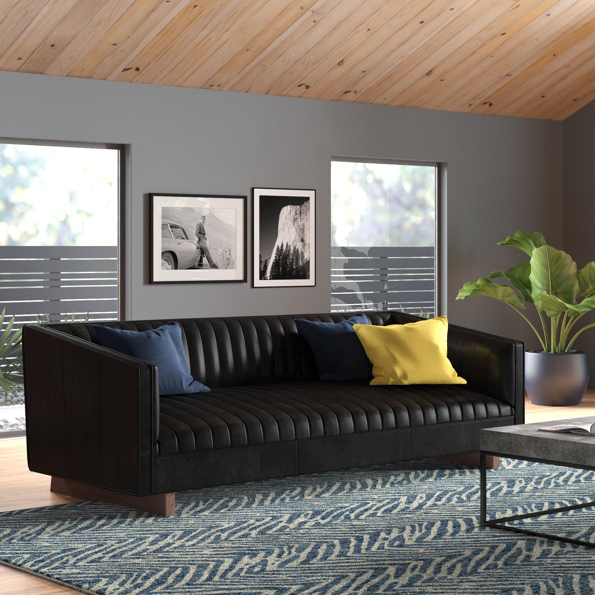 Wallace Leather Sofa Allmodern
