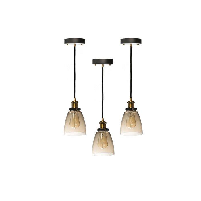 Natal 1 Light Bell Pendant Set