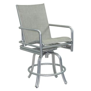 Helios Sling Swivel Patio Bar Stool