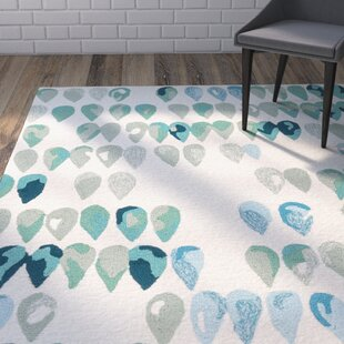 Heitz Ivory/Blue/Green Indoor/Outdoor Area Rug