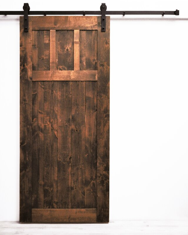 Craftsman Barn Door With Hardware