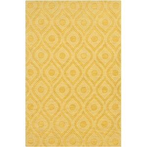 Castro Hand Woven Wool Yellow Area Rug