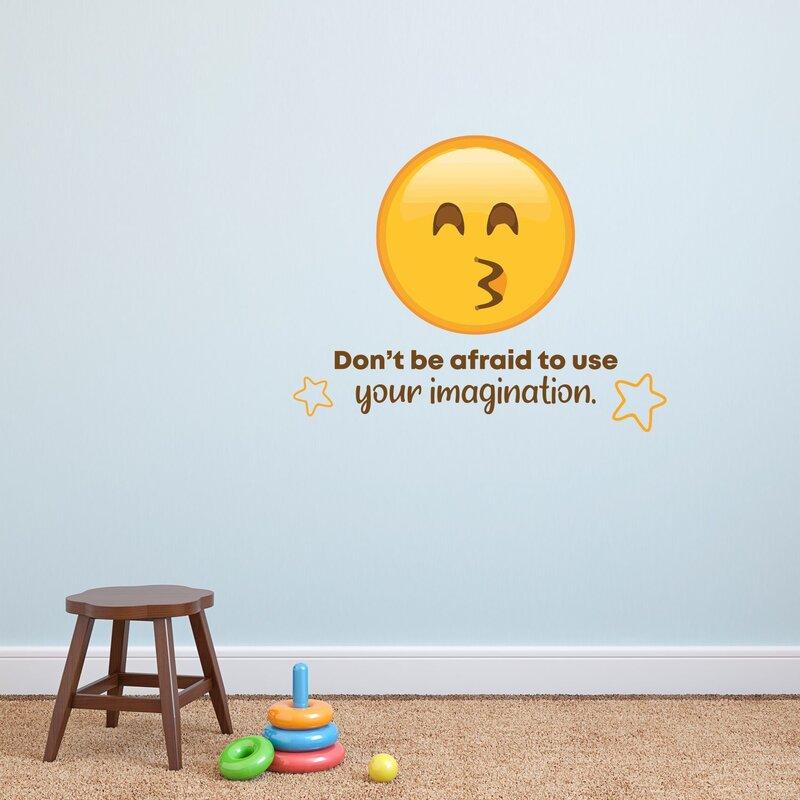 Zoomie Kids Imagination Kiss Emoji Vinyl Wall Decal Wayfair