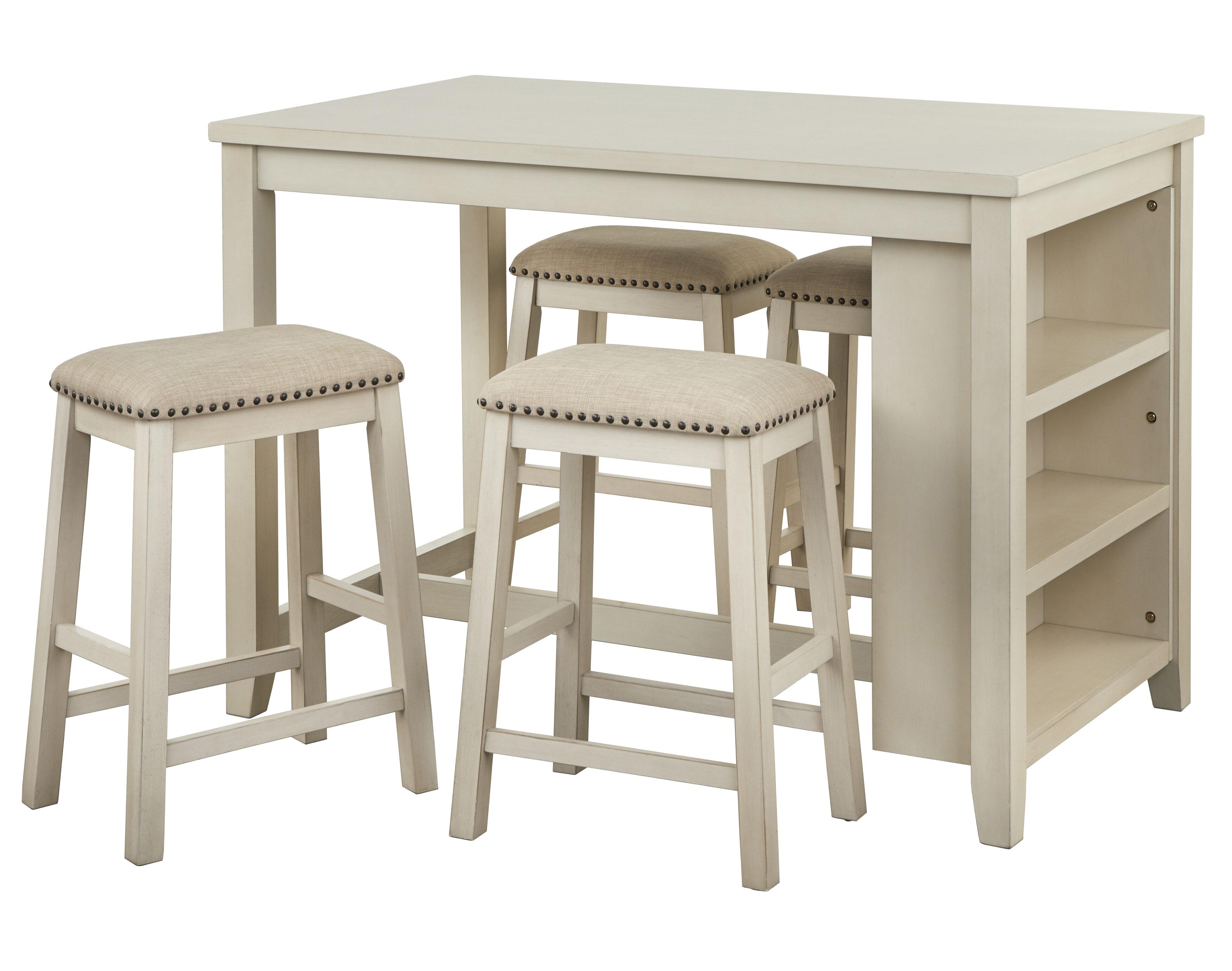 White Cane Outdoor Furniture, Winston Porter Dunbarton 5 Piece Counter Height Dining Set Reviews Wayfair