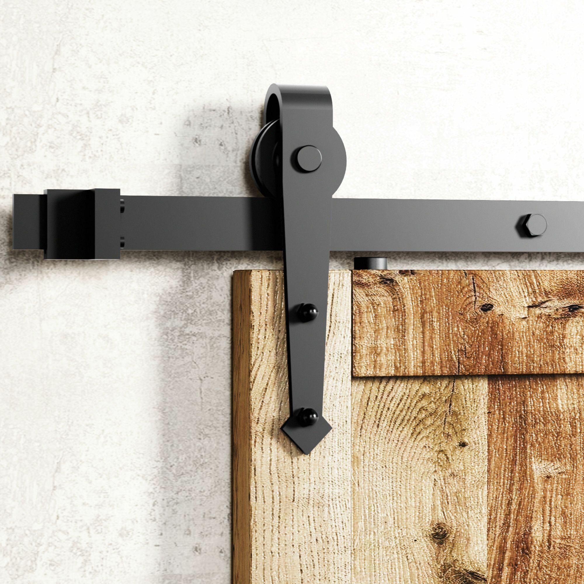 Vancleef Arrow Sliding Standard Single Track Barn Door Hardware Kit Reviews Wayfair