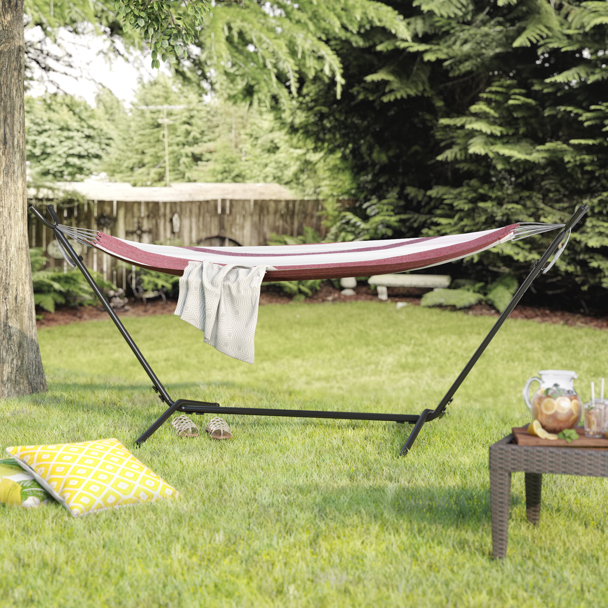 Lovely Latitude Run Jaqueline Outdoor Portable Hammock With Stand U0026 Reviews |  Wayfair