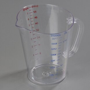 0.5 Gal. Polycarbonate Measuring Cup (Set of 6)