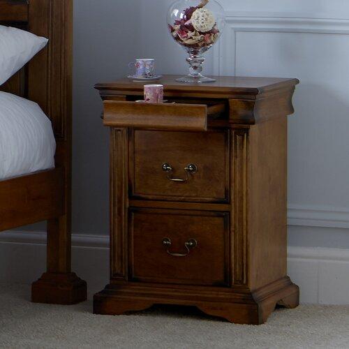Nachttisch Nalles mit 3 Schubladen dCor design   Schlafzimmer > Nachttische   Holz   dCor design