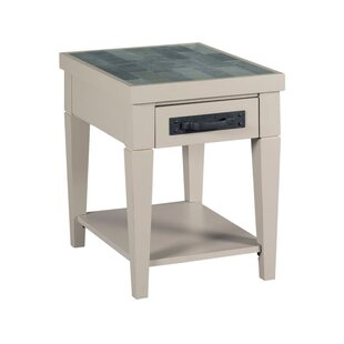 Red Barrel Studio Abby Charging End Table with Storage