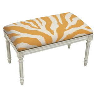 Animal Print Upholstered and Wood Bench