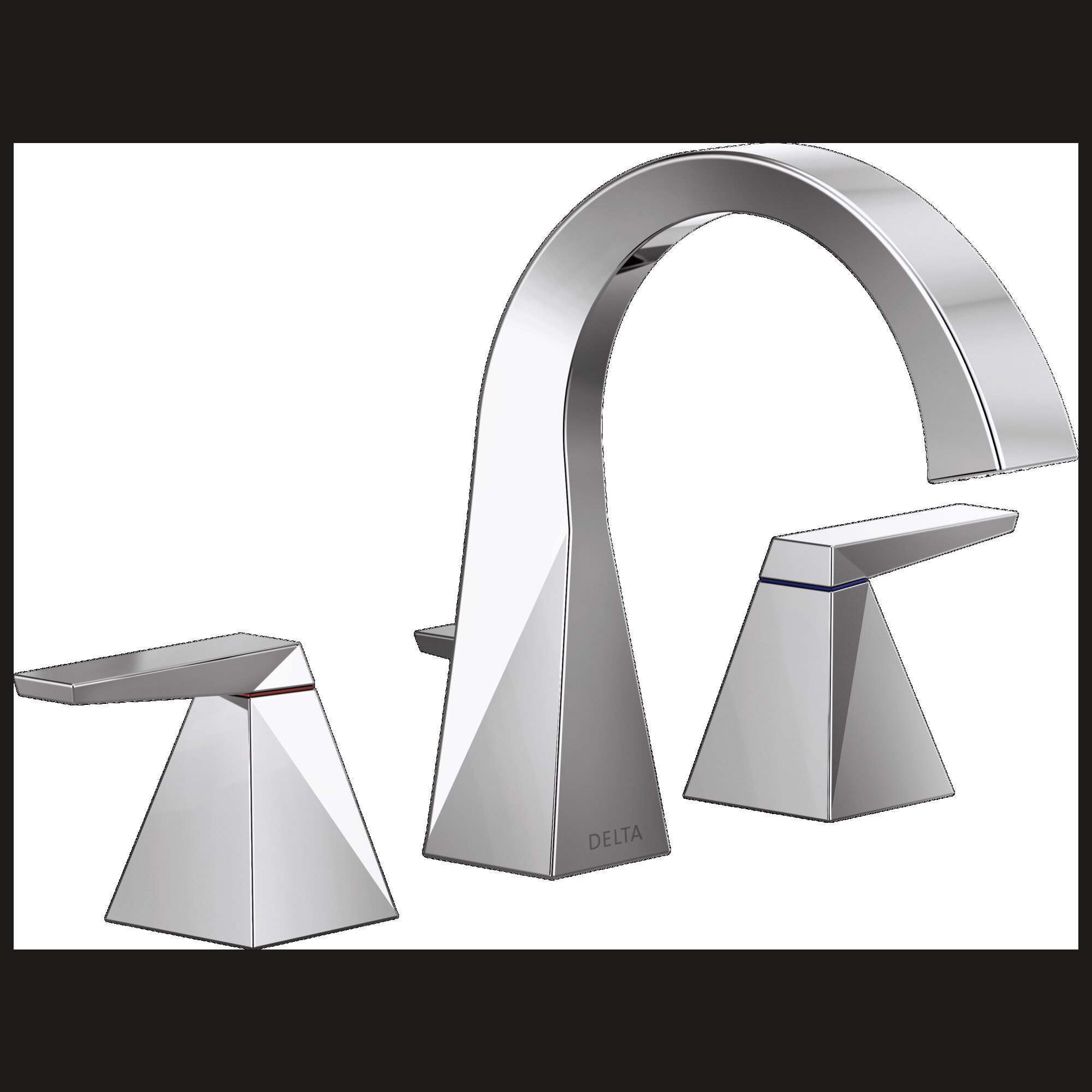 Delta Trillian Widespread Bathroom Faucet With Drain Assembly And Diamond Seal Technology Wayfair