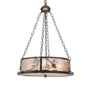 Meyda Tiffany Balsam Pine 4-Light Drum Ch..