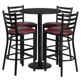 Aniket 5 Piece Pub Table Set