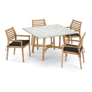 Breakwater Bay Eichhorn 5 Piece Dining Set with Cushions