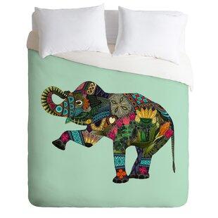 Bungalow Rose Allegany Elephant Duvet Cover Set