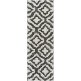Affordable Feather Jesse Lattice White Area Rug By Well Woven