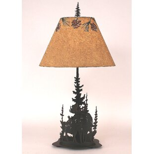 Graciela Moose and Feather Tree 33 Table Lamp
