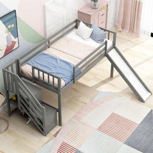 Waverly Hall Twin Low Loft Bed with Shelf