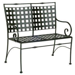 Woodard Sheffield Garden Bench with Cushion